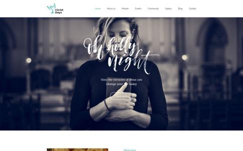 Religious Website Design - Christ Days