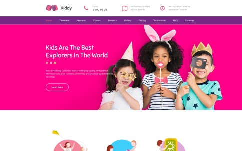 Kindergarten Website Design - Kiddy