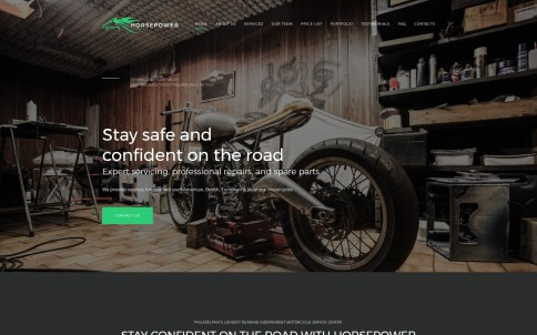 Motorcycle Website Design - Horsepower