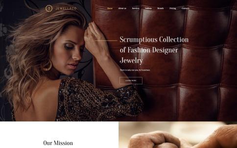 Jewelry Website Design - Jewellaco
