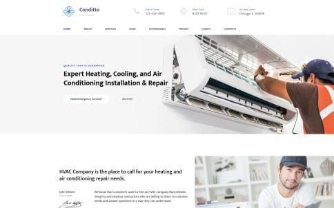 Hvac Website Design - Conditto