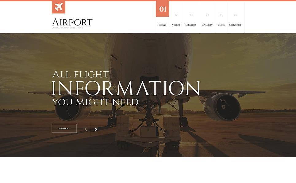 Responsive WordPress thema over Privé Luchtvaartmaatschappij  New Screenshots BIG
