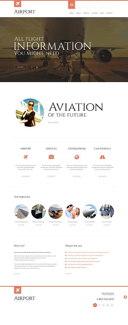 WordPress Theme/Template 48505 Main Page Screenshot
