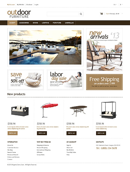 Magento Theme/Template 48512 Main Page Screenshot