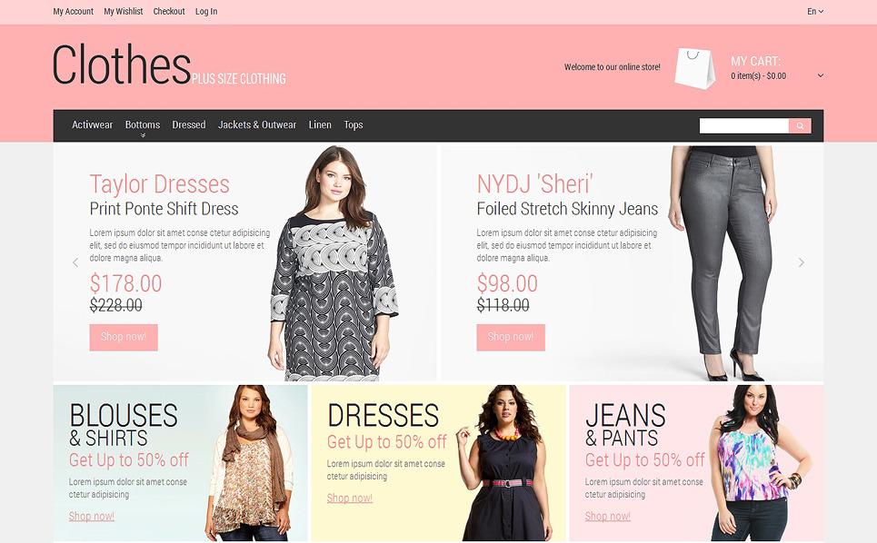 Адаптивний Magento шаблон на тему одяг New Screenshots BIG