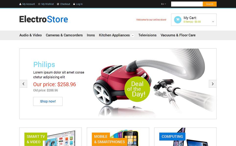 Responzivní Magento motiv na téma Prodejna elektroniky New Screenshots BIG