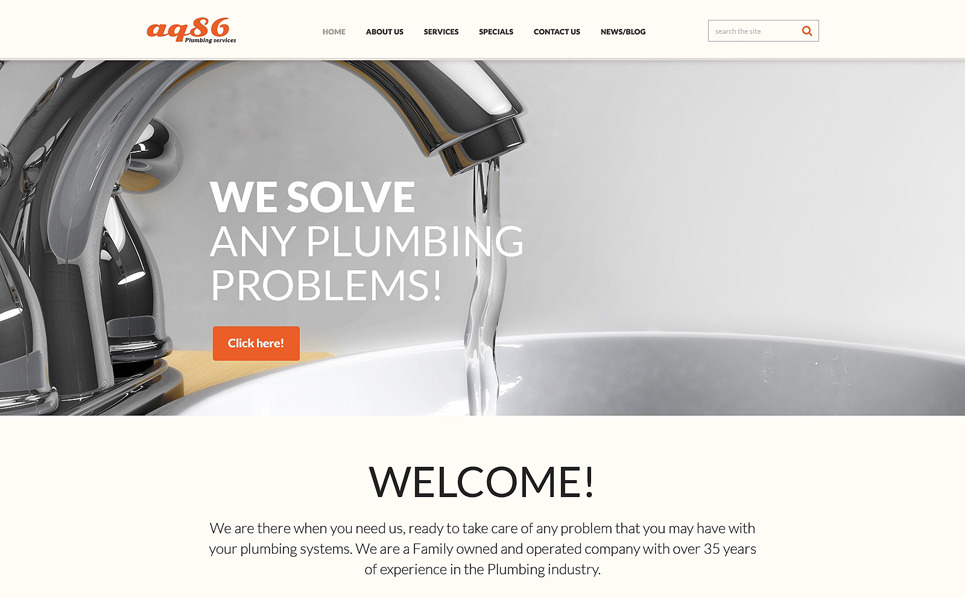 Reszponzív Vízvezetékszerelés Joomla sablon New Screenshots BIG