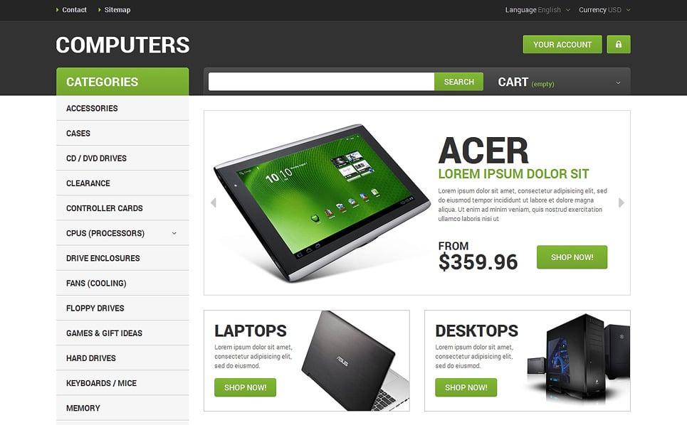 Адаптивний PrestaShop шаблон на тему комп'ютери New Screenshots BIG