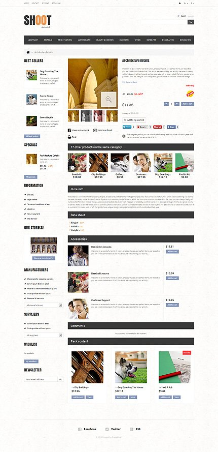 ADOBE Photoshop Template 48528 Home Page Screenshot