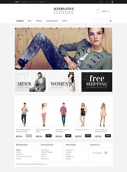 osCommerce Template 48536 Main Page Screenshot