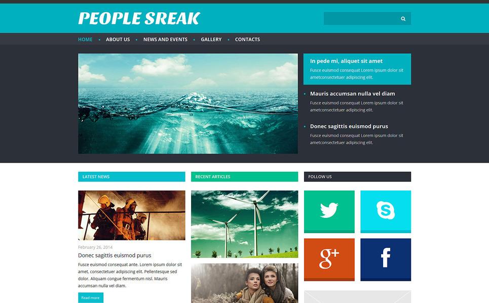 Responsive Joomla Template over Nieuws Website  New Screenshots BIG