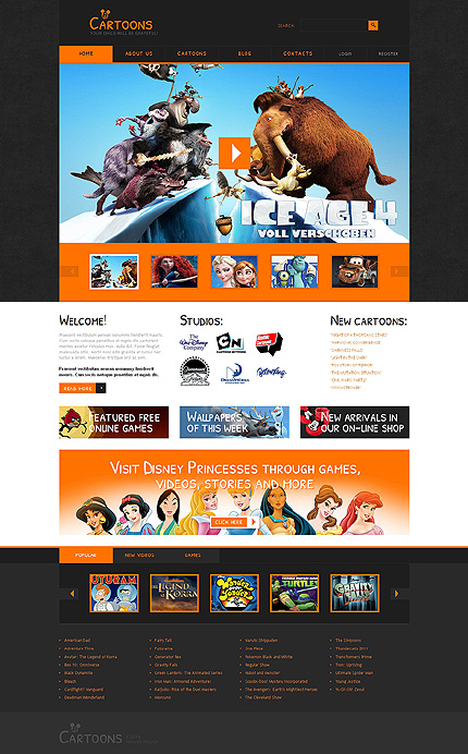 Joomla Theme/Template 48540 Main Page Screenshot
