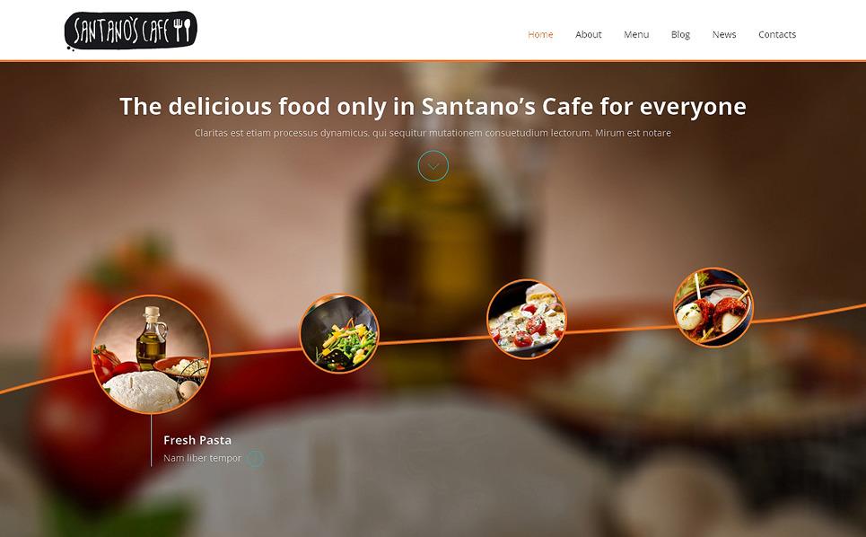 Reszponzív Kávézók  Joomla sablon New Screenshots BIG