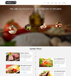 Cafe & Restaurant Joomla  Template 48542