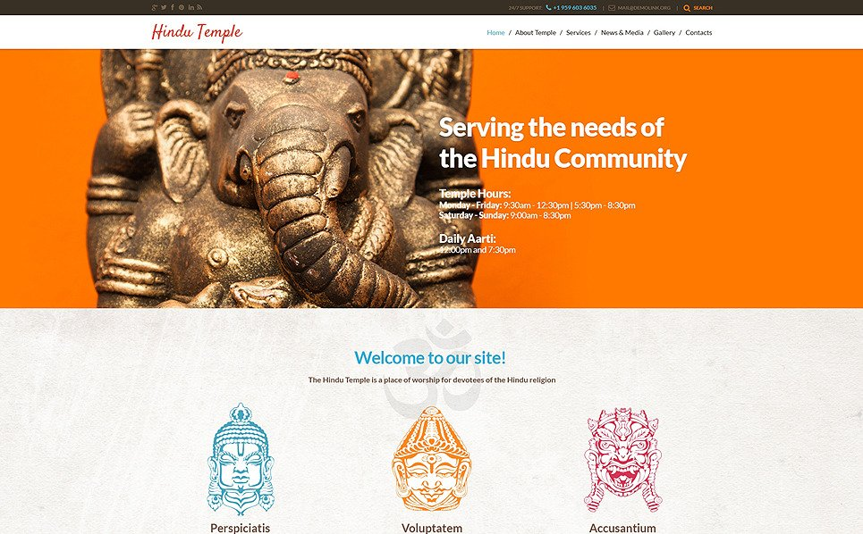 Responsywny motyw WordPress #48550 na temat: hinduizm New Screenshots BIG