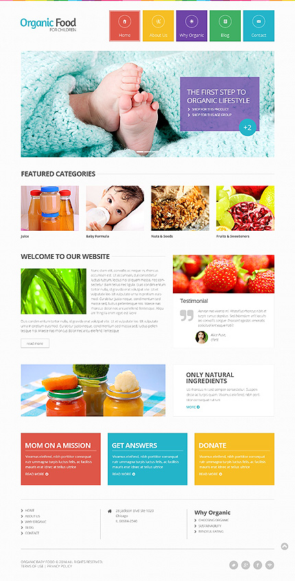 food drink website template website templates. Black Bedroom Furniture Sets. Home Design Ideas