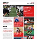 Sport Website  Template 48556