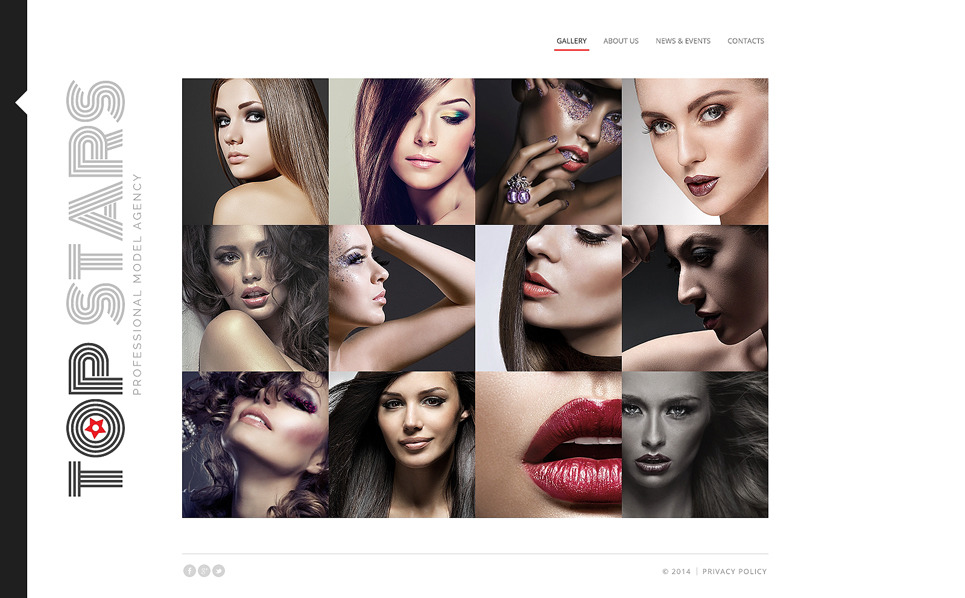 Bootstrap szablon strony www #48559 na temat: agencja modelek New Screenshots BIG