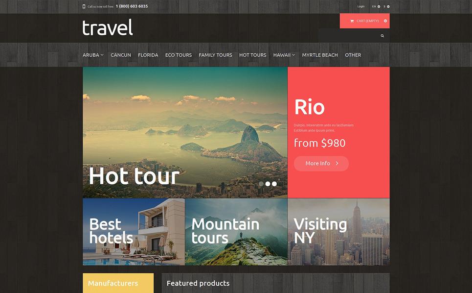Reszponzív Utazási irodák PrestaShop sablon New Screenshots BIG