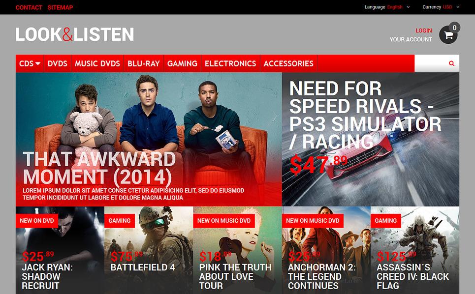 Responsywny szablon PrestaShop Oglądaj, słuchaj, graj #48569 New Screenshots BIG
