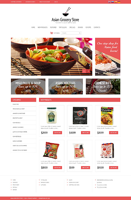 osCommerce Template 48573 Main Page Screenshot