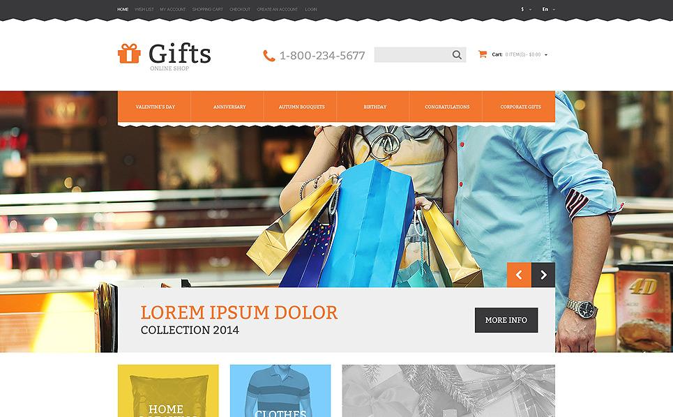 Responsive OpenCart Vorlage für Geschenkeshop  New Screenshots BIG
