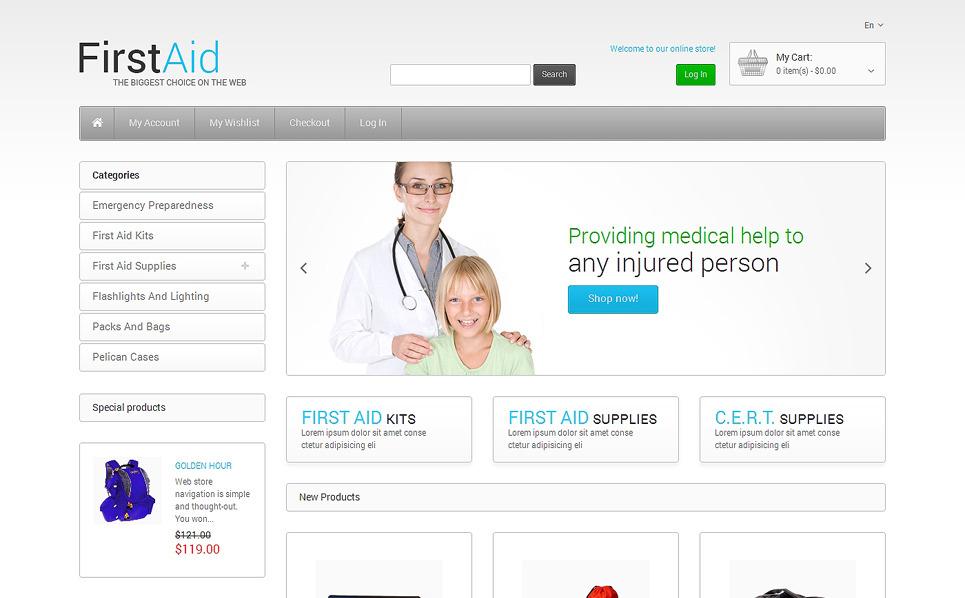 Responsywny szablon Magento Apteczka pierwszej pomocy #48582 New Screenshots BIG