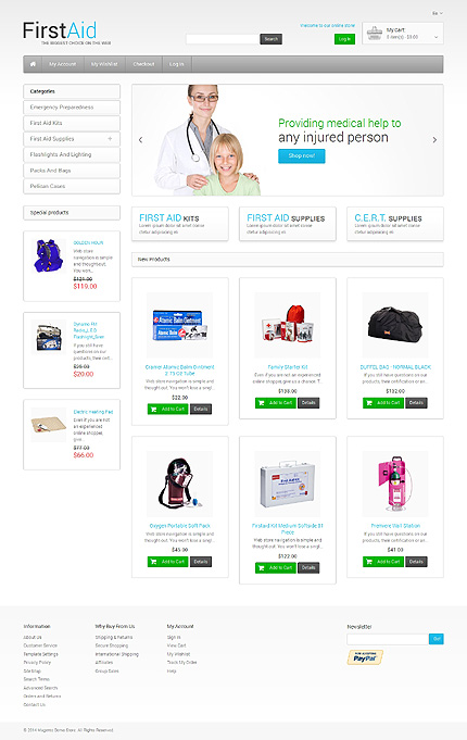Magento Theme/Template 48582 Main Page Screenshot