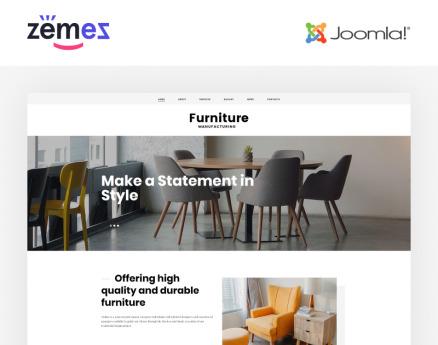 Furniture - Ready-to-Use Stylish Joomla Template