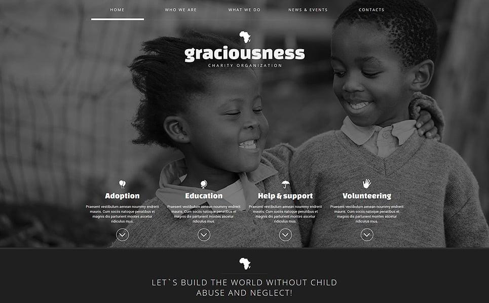 Responsive Joomla Template over Liefdadigheid van Kinderen New Screenshots BIG
