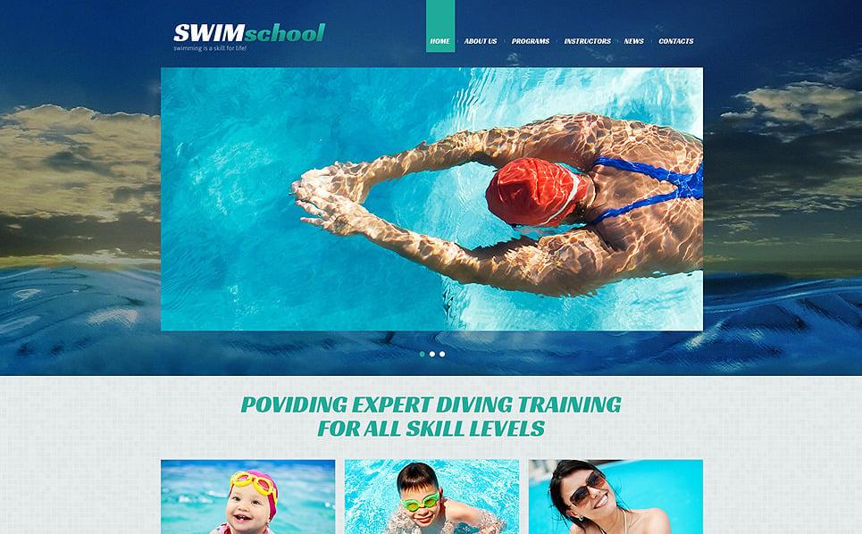 Responsive Joomla Vorlage für Schwimmschule  New Screenshots BIG