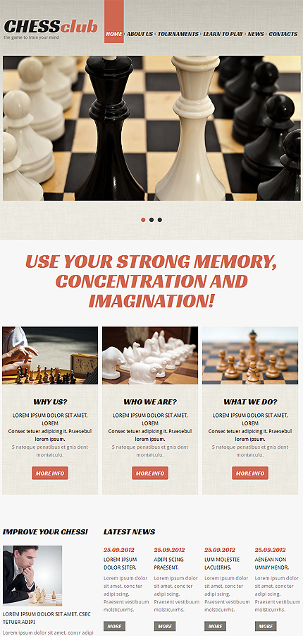 Joomla Theme/Template 48589 Main Page Screenshot