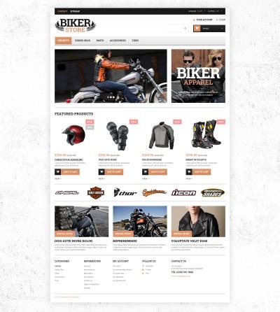 Bike Shop Responsive PrestaShop шаблон