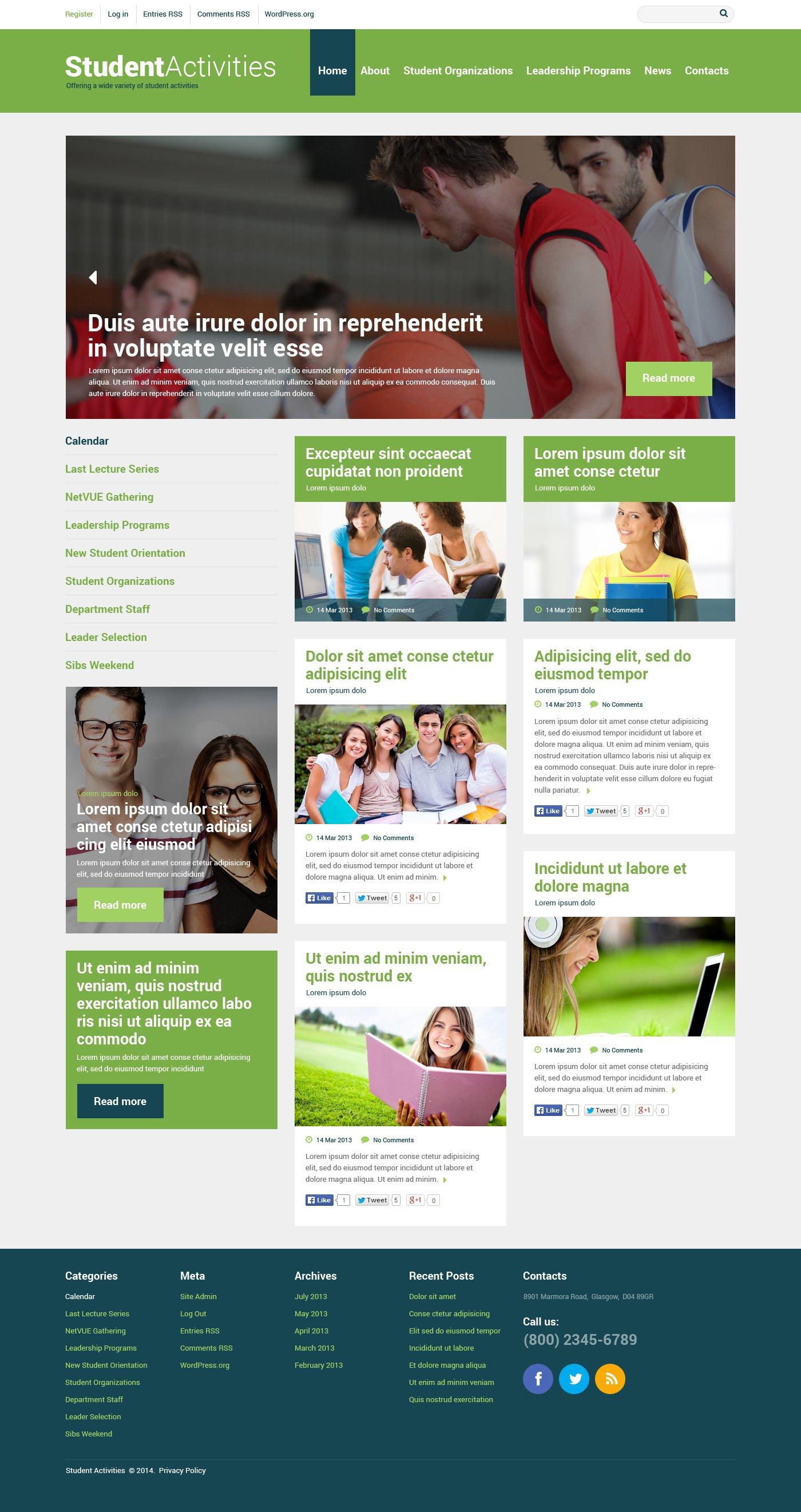 Адаптивний WordPress шаблон на тему освіта №48547 - скріншот