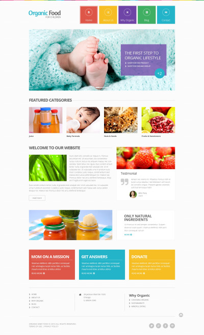Адаптивный HTML шаблон №48554 на тему магазин еды