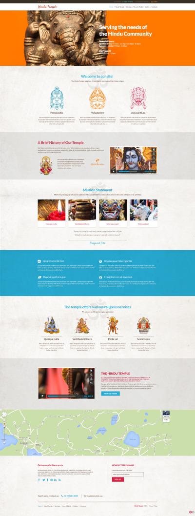 Адаптивный WordPress шаблон №48550 на тему индуизм