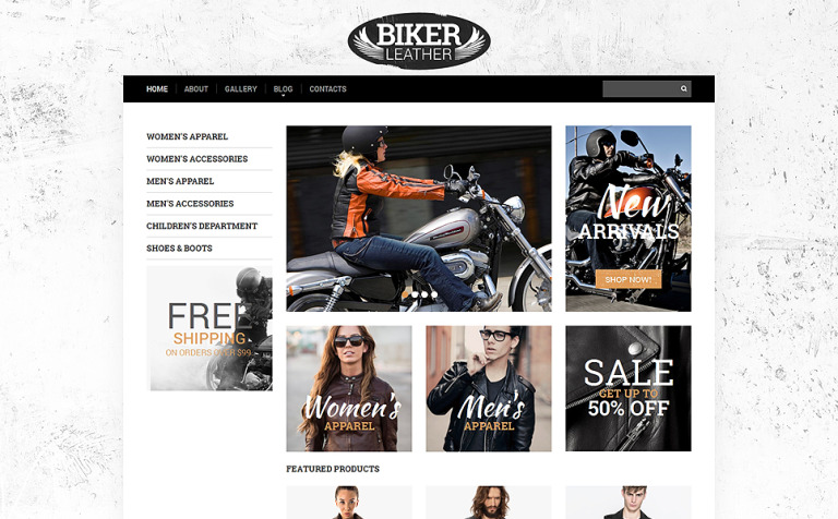 Apparel Responsive Website Template