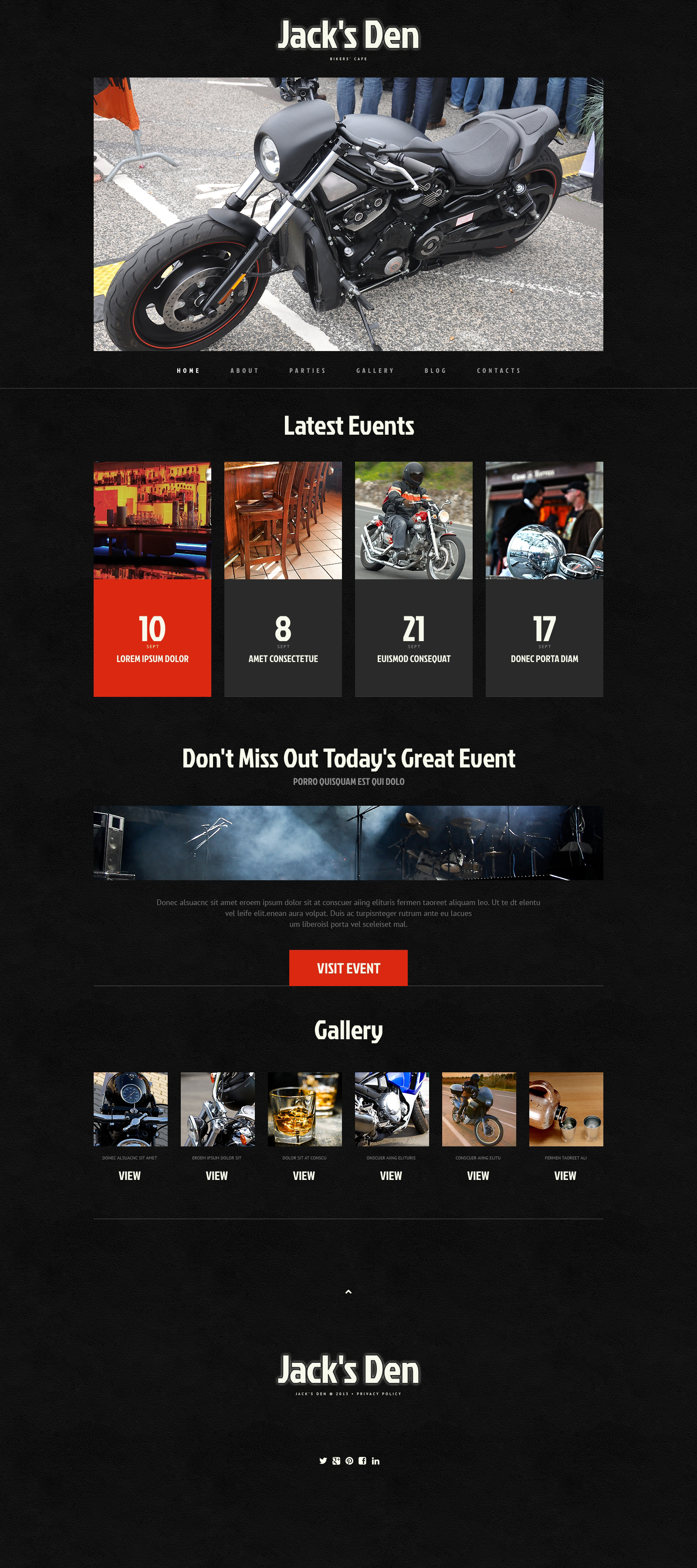Biker Club Responsive WordPress Theme - screenshot