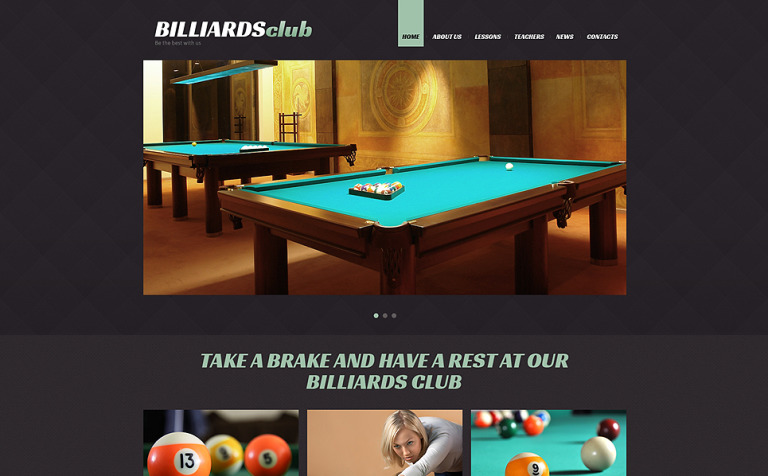 Billiards Responsive Joomla Template