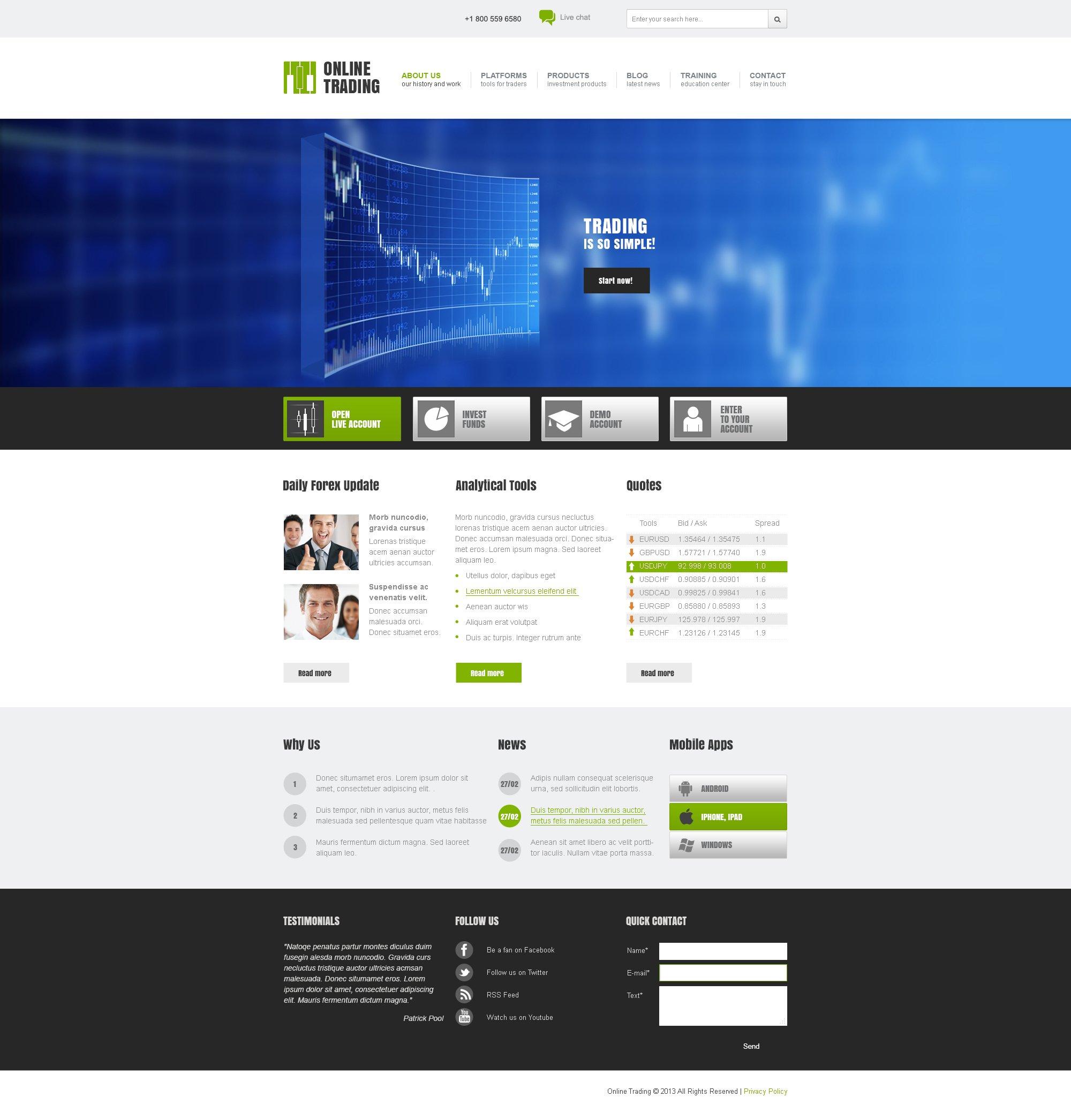 Business & Services Responsive Joomla Template - screenshot