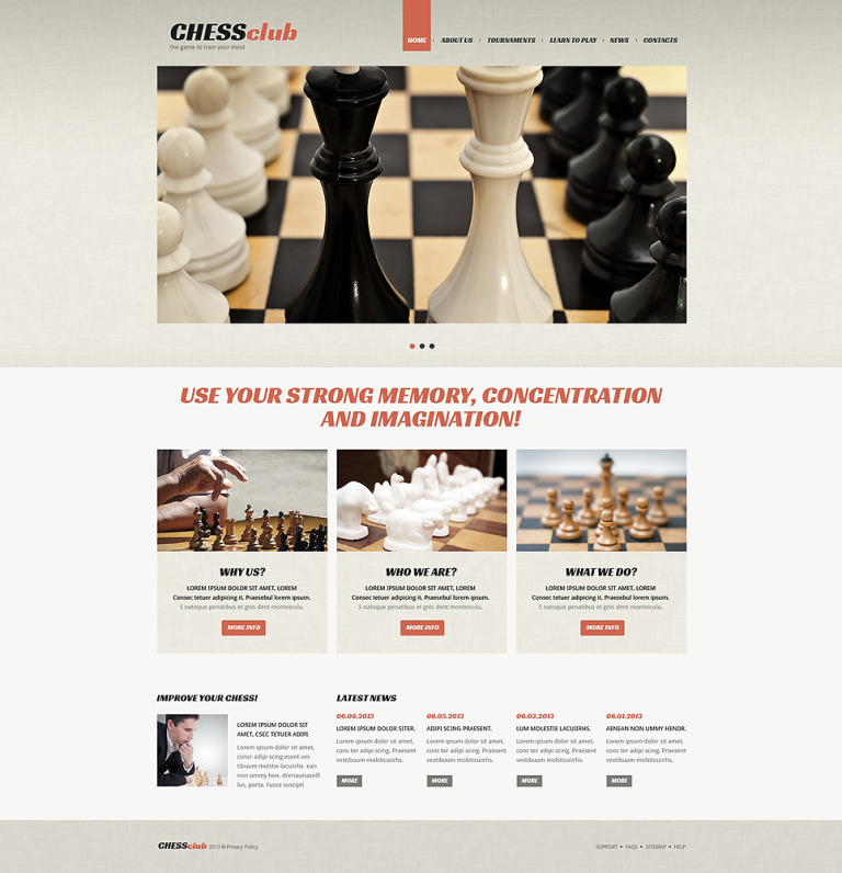 Chess Responsive Joomla Template New Screenshots BIG