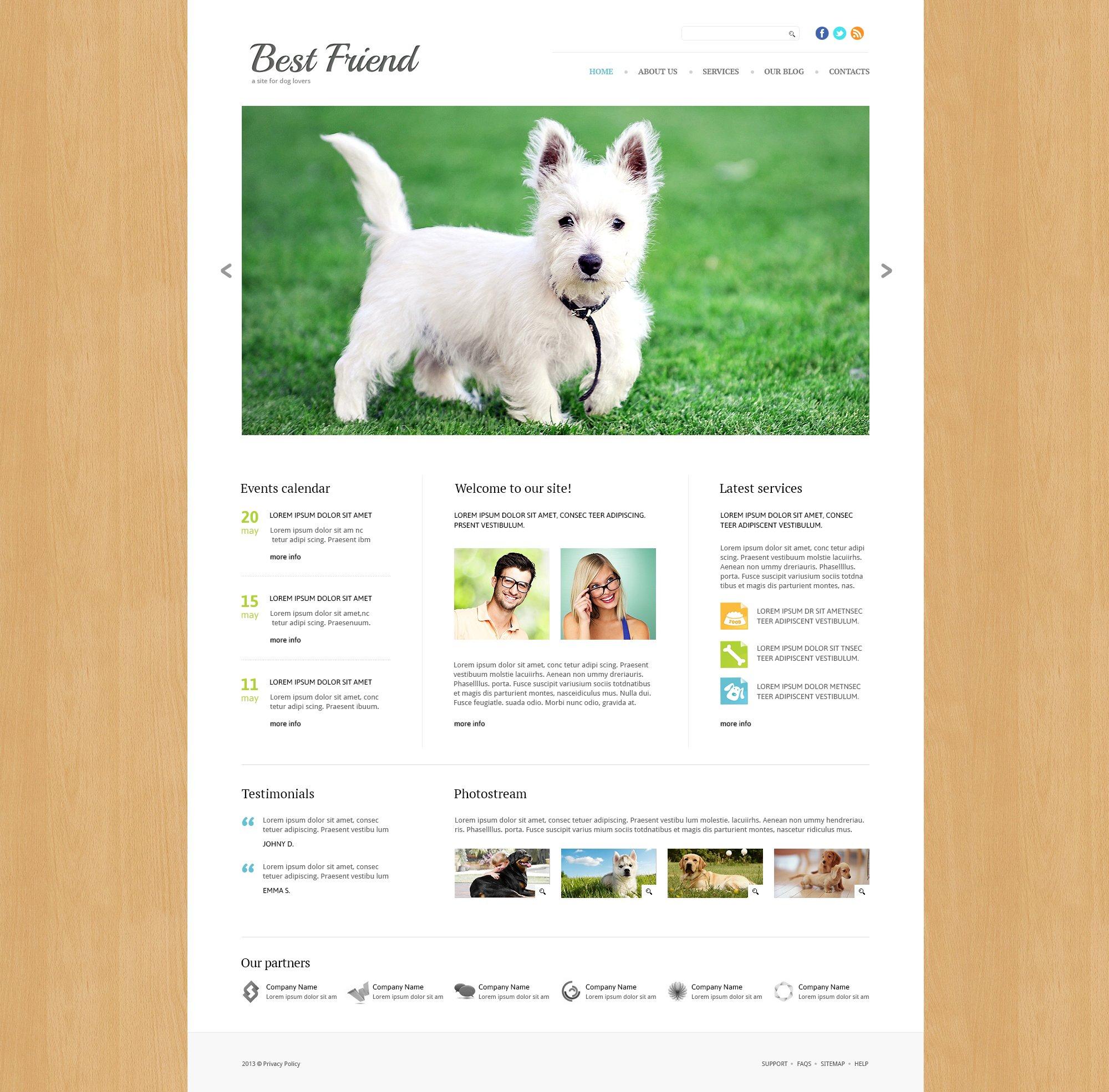 Dog Responsive Joomla Template - screenshot
