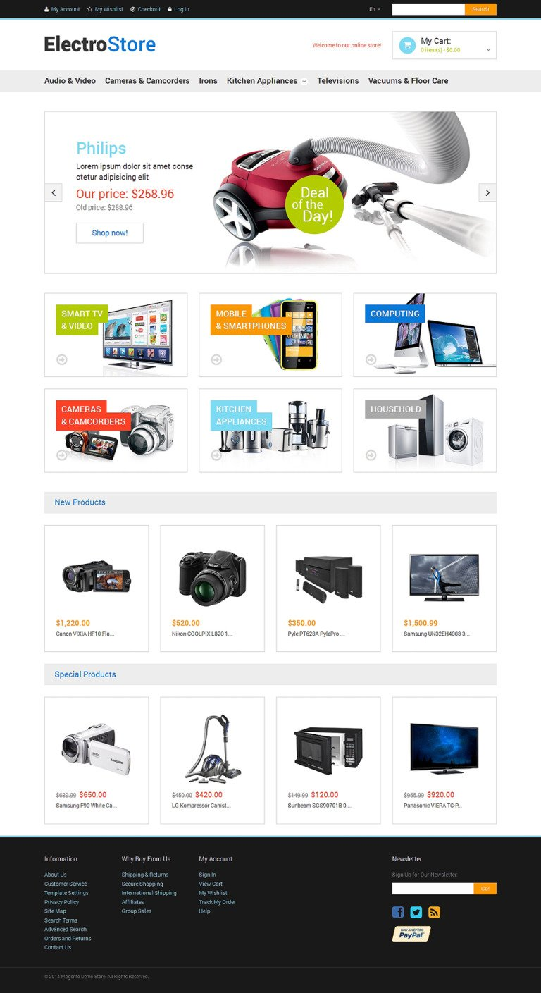 Electronics Store Responsive Magento Theme New Screenshots BIG