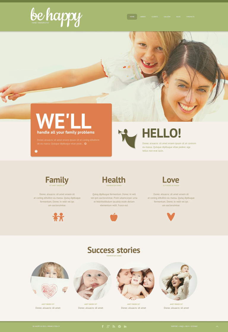 Family Center Responsive WordPress Theme New Screenshots BIG