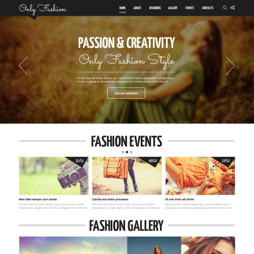 Only Fashion - Joomla! Template based on Bootstrap