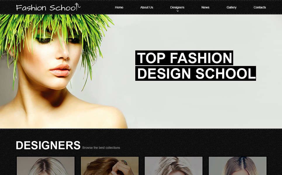 Fashion Design School Joomla Template 48519