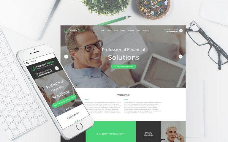 Financial Advisor Responsive Website Template New Screenshots BIG