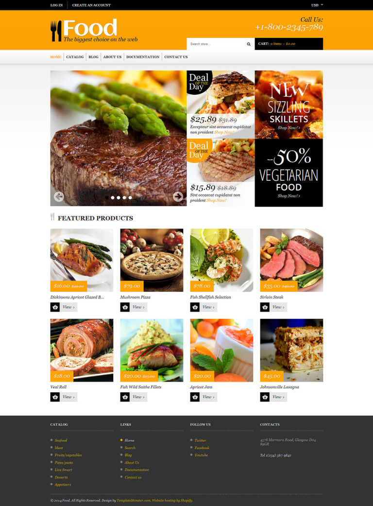 Food Store Responsive Shopify Theme New Screenshots BIG