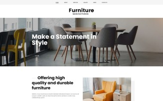 Furniture - Ready-to-Use Stylish Joomla Template