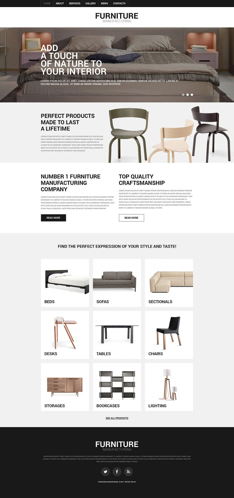 Furniture Responsive Joomla Template New Screenshots BIG